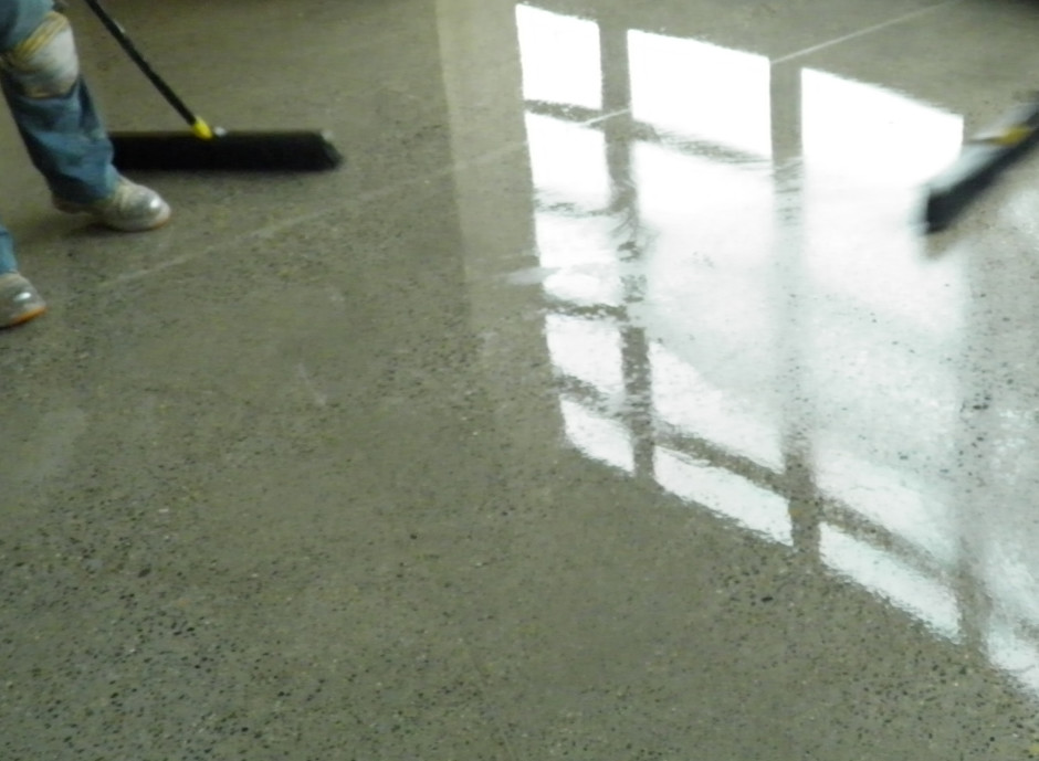 Sealed Stained And Polished Concrete Dci Flooring