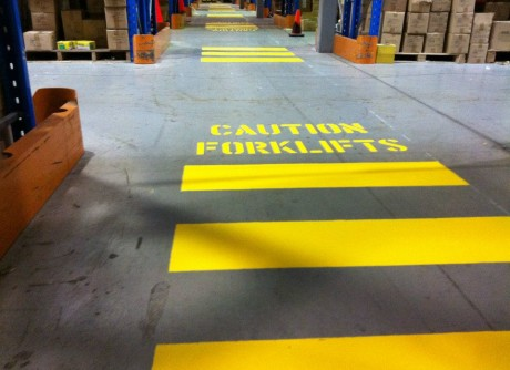 Epoxy Safety Lines Dci Flooring Industrial Seamless