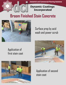 Broom Finished Stain Concrete