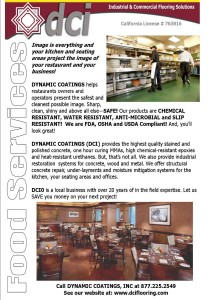 DCI Food Services Flyer