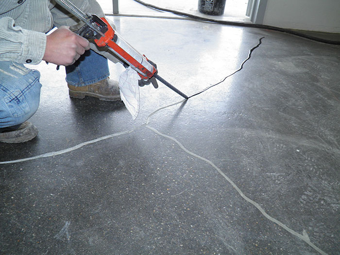 Concrete Crack And Joint Repair Dci Flooring Industrial Seamless